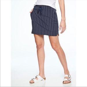 Athleta Midtown Navy & White Striped Tennis Skort